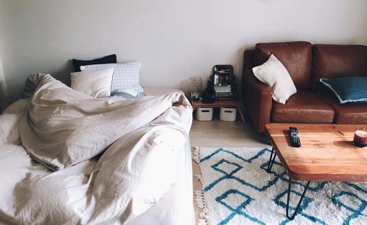 居心地と暮らし心地の良い部屋。おうちごはんが自慢の1Kインテリア